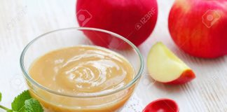 homemade apple puree