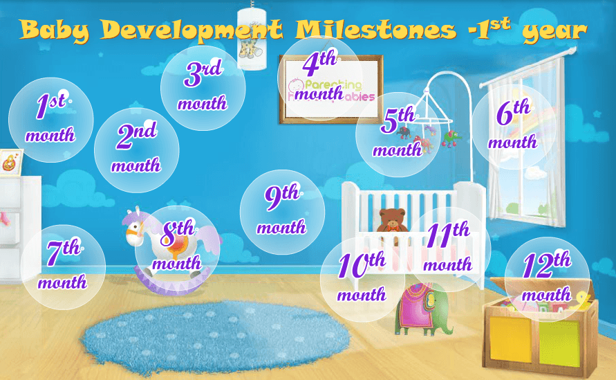 Interactive Infographic Baby Development - 1st Year