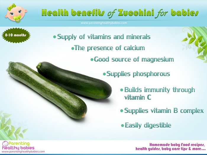 Health benefits of zucchini for babies