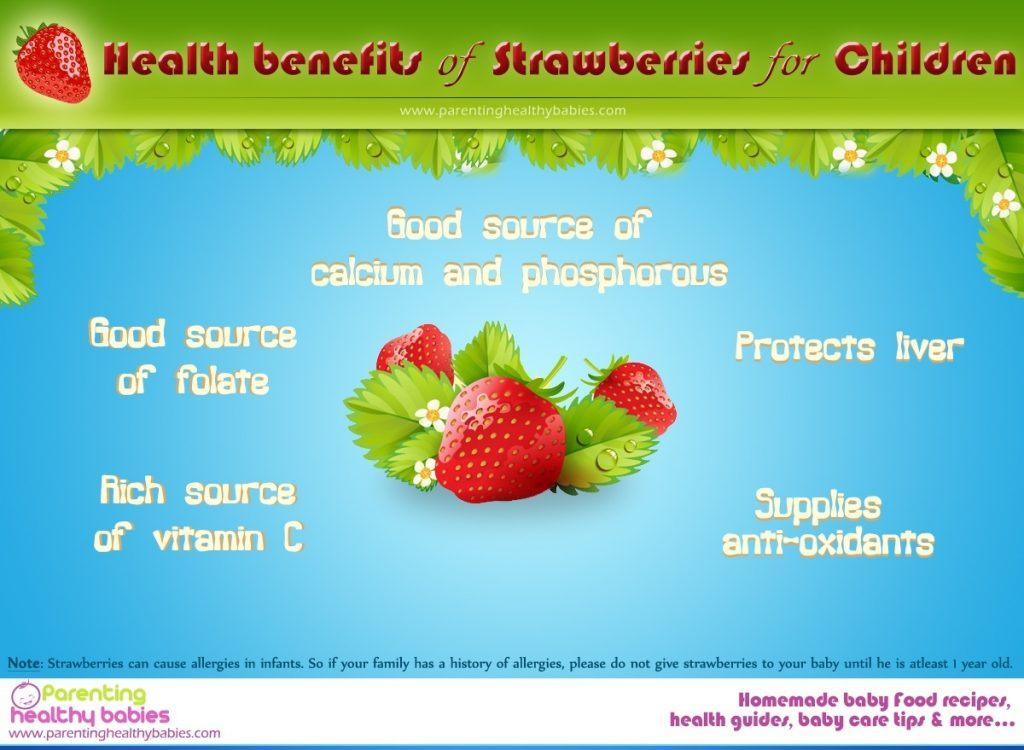 Health benefits of strawberries for babies