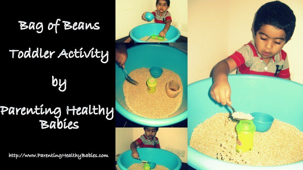 toddler fun activity with beans