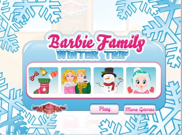 Barbie Family Winter Trip Game