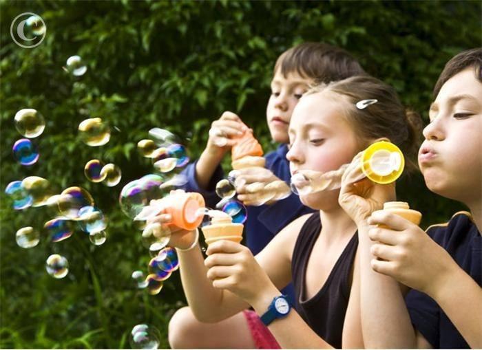 Blowing Bubbles Indoor Games