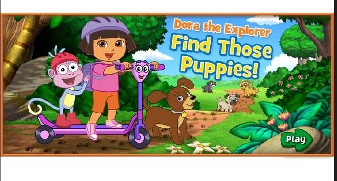 Dora Find Those Puppies Dora Games