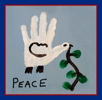 Peace Dove Hand Print