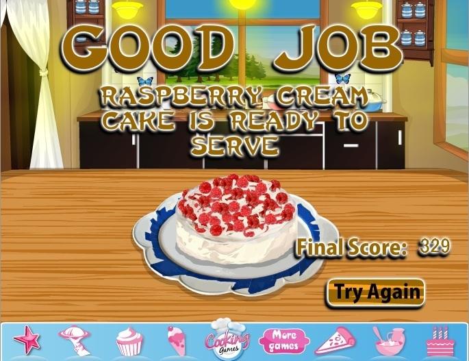 Raspberry Cream Cake Game