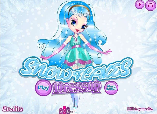 Snowflakes Dress Up Game