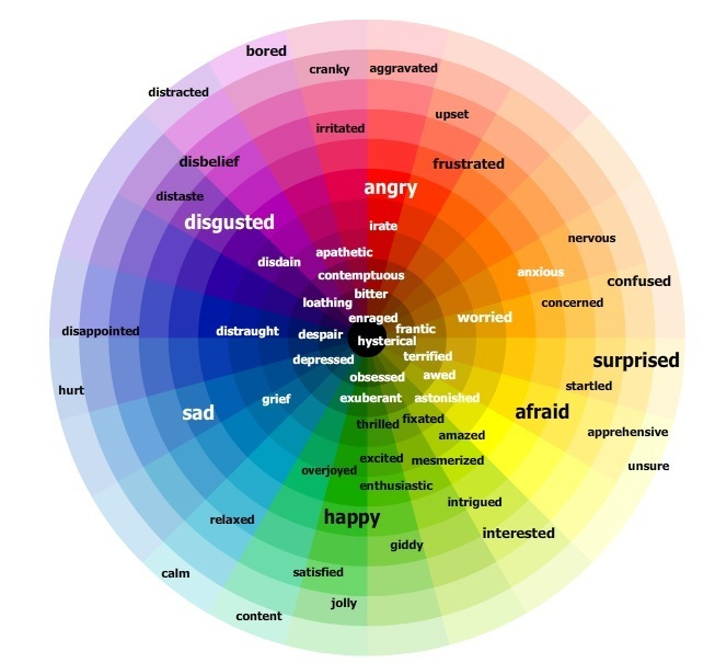 Emotions Color Wheel Game