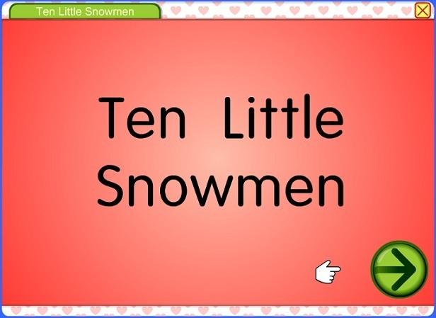 Ten Little Snowmen Game
