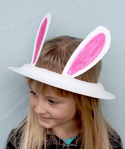 Paper Plate Easter Bunny Hat