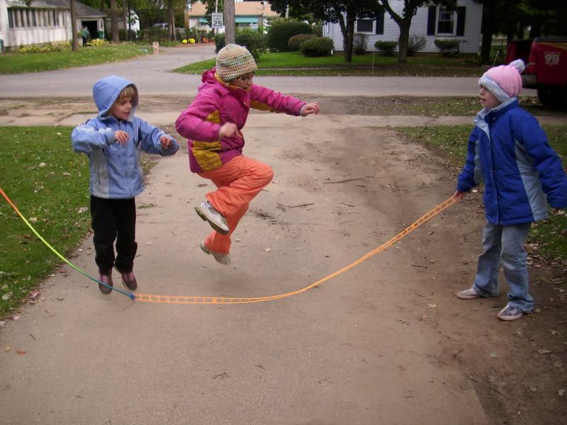 Kids Playing Jump Rope