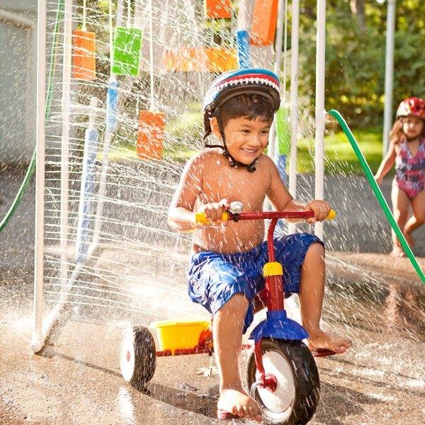 Kids Washing Bicycles
