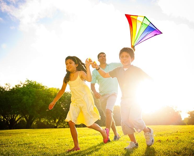 Kids flying-kite