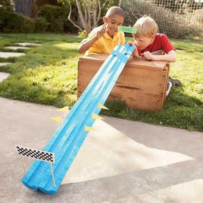 Kids playing marble launch