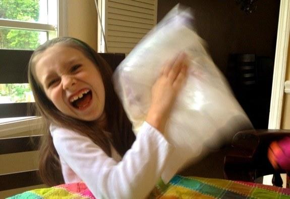 ice cream in bag
