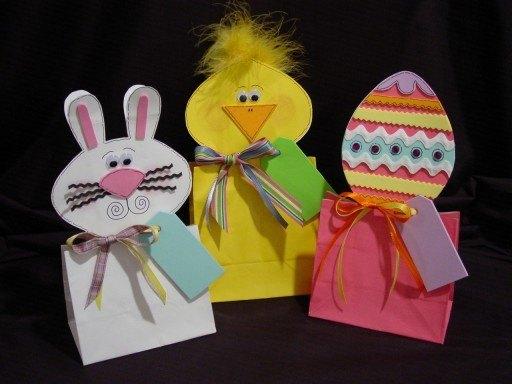 Easter Animals Paper Bag