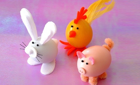 Easter Animals With Eggs