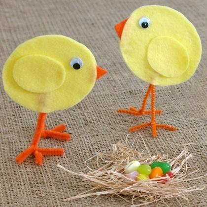 Felt Easter Chicks