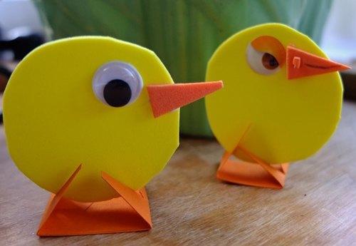 Foam Easter Chicks