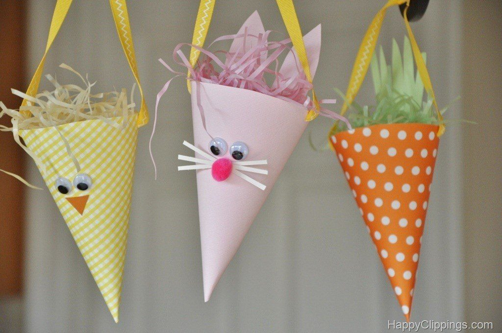 Paper Cone Easter Bunny Chick