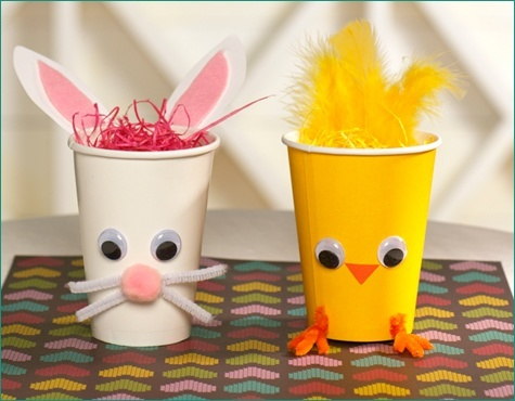 Paper Cup Easter Bunny Chick