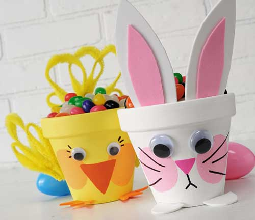 Paper Cup Easter Chick n Bunny