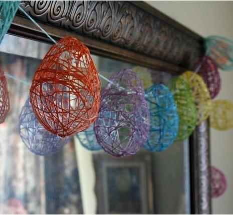 String Easter Egg Decoratives