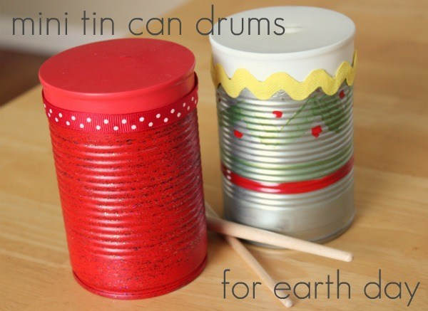 Recycled Tin Can Drums