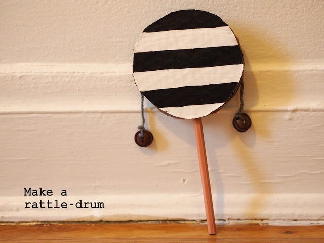 DIY Rattle Drum for kids