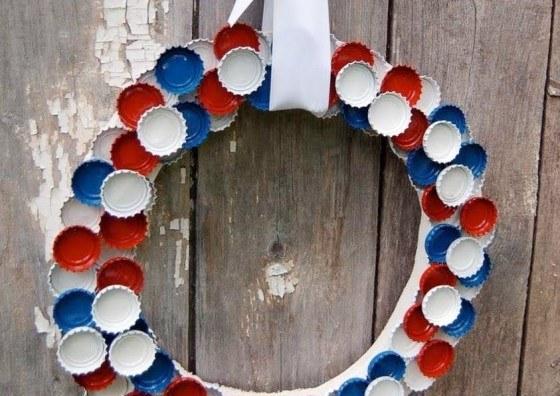 Bottlecap Garland American Flag