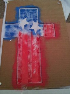 American Flag With Christian Cross