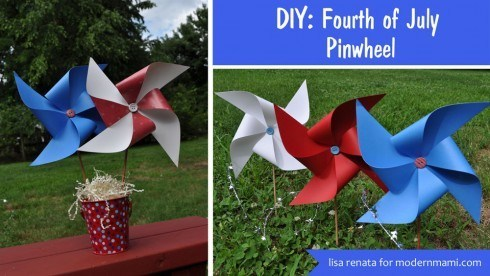Flag Craft with pin wheel