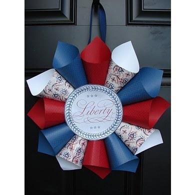 American Flag Paper Cone Decorative