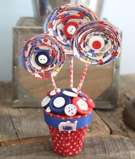 Paper Flower Craft American Flag