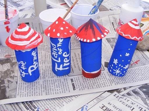 American Flag Rocket Decorative