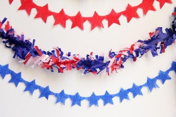 American Flag Star Streamers