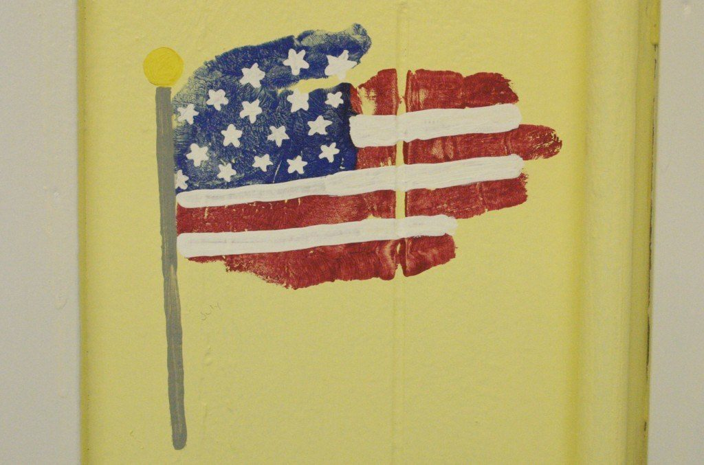 American Flag Hand Print