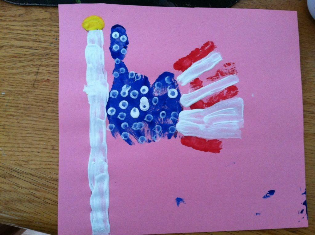Hand Print American Flag