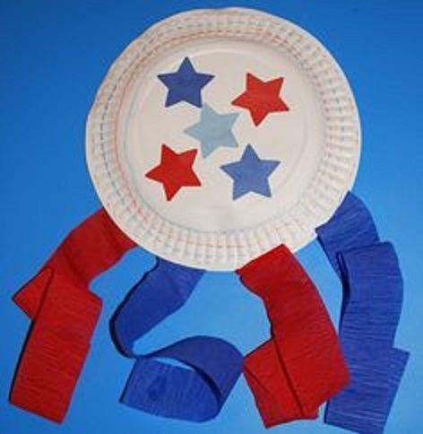 Paper Plate Flag Decorative