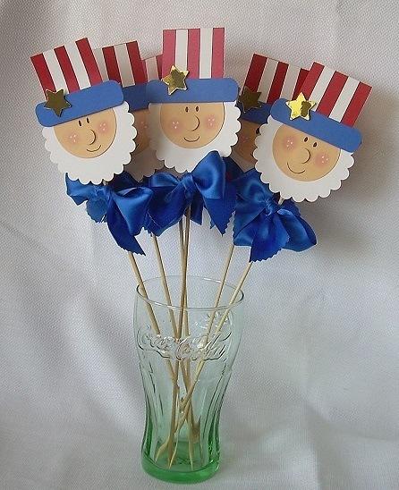 Uncle Sam Flower Decorative