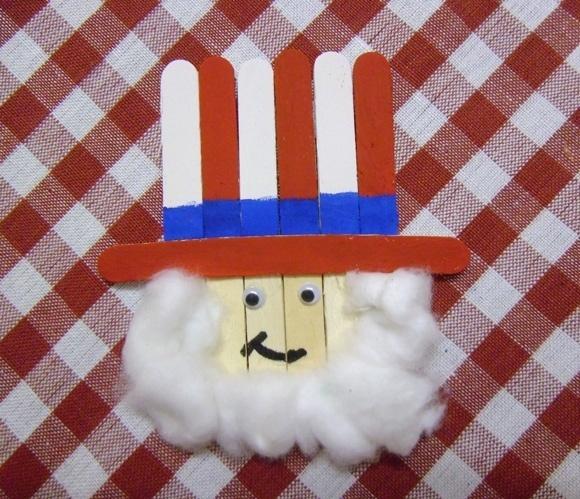 Popsicle Stick Uncle Sam