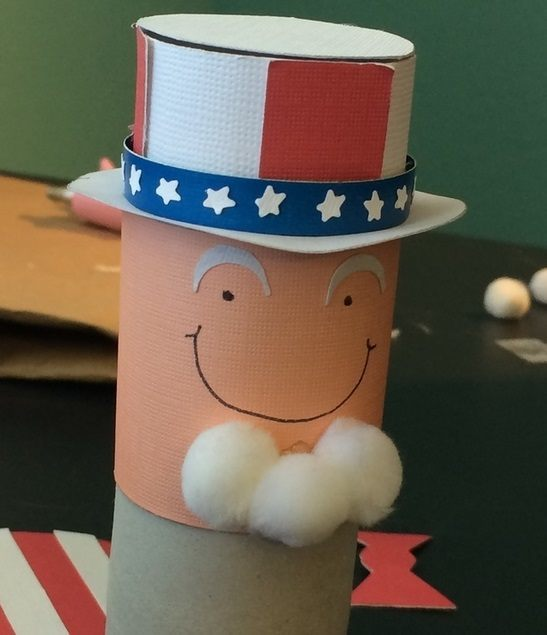 Uncle Sam With Tissue Roll