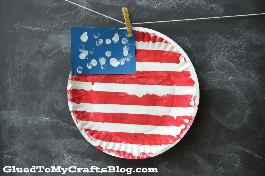 Paper Plate Flag Hanging