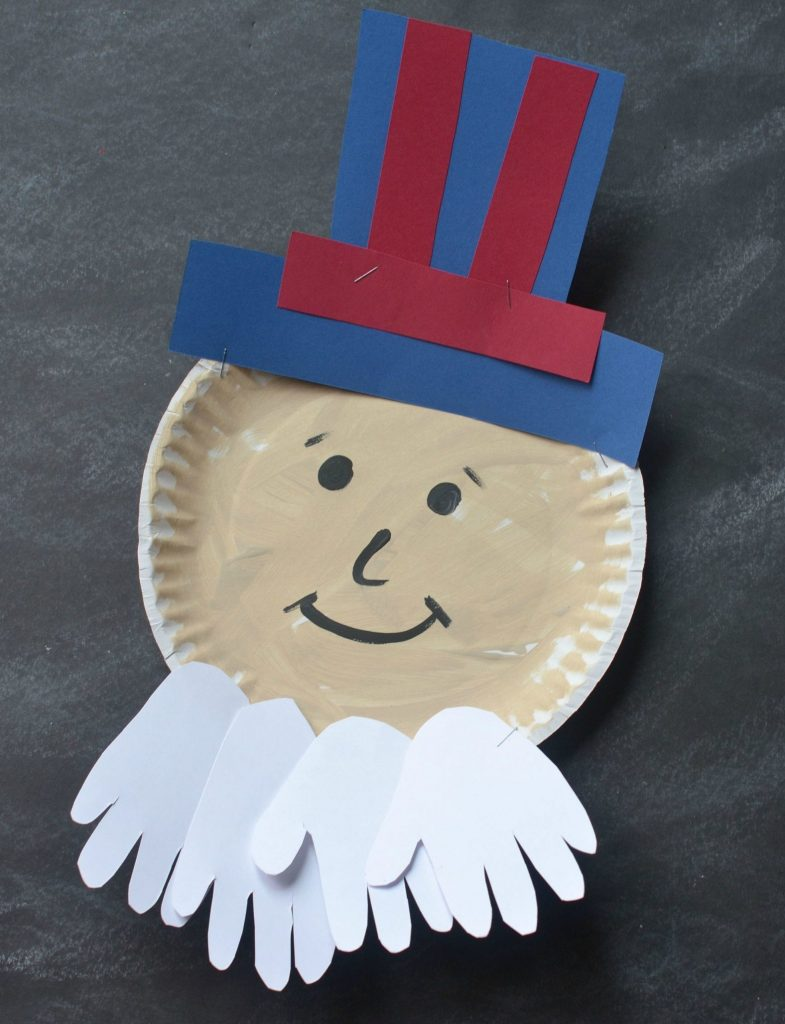 Paper Plate Uncle Sam Craft