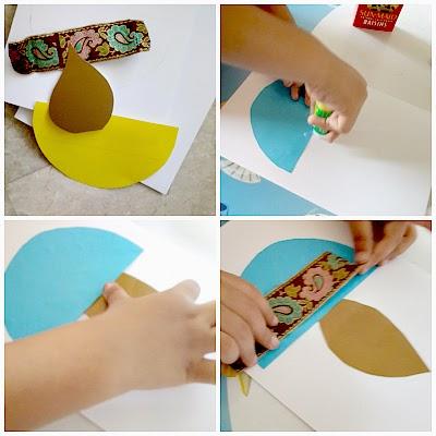 Diwali paper card DIY for kids