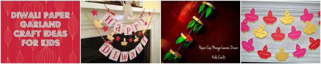 Diwali paper garland craft ideas for kids`