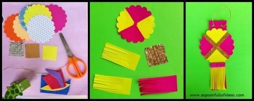 Diwali DIY Hanging Lamp craft for kids