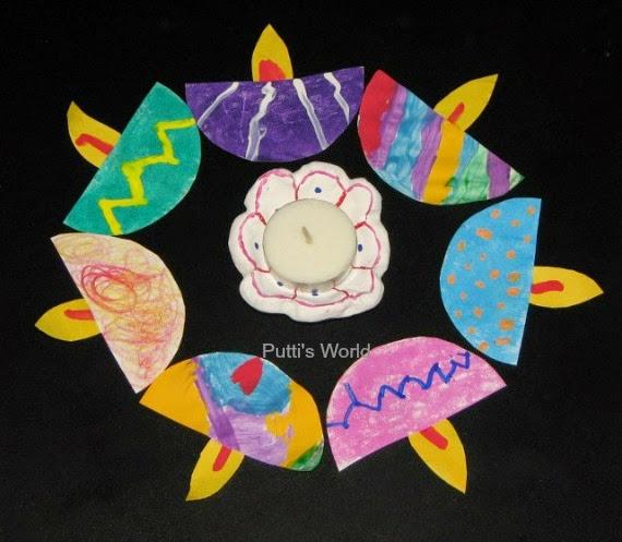 Kids diwali paper craft idea