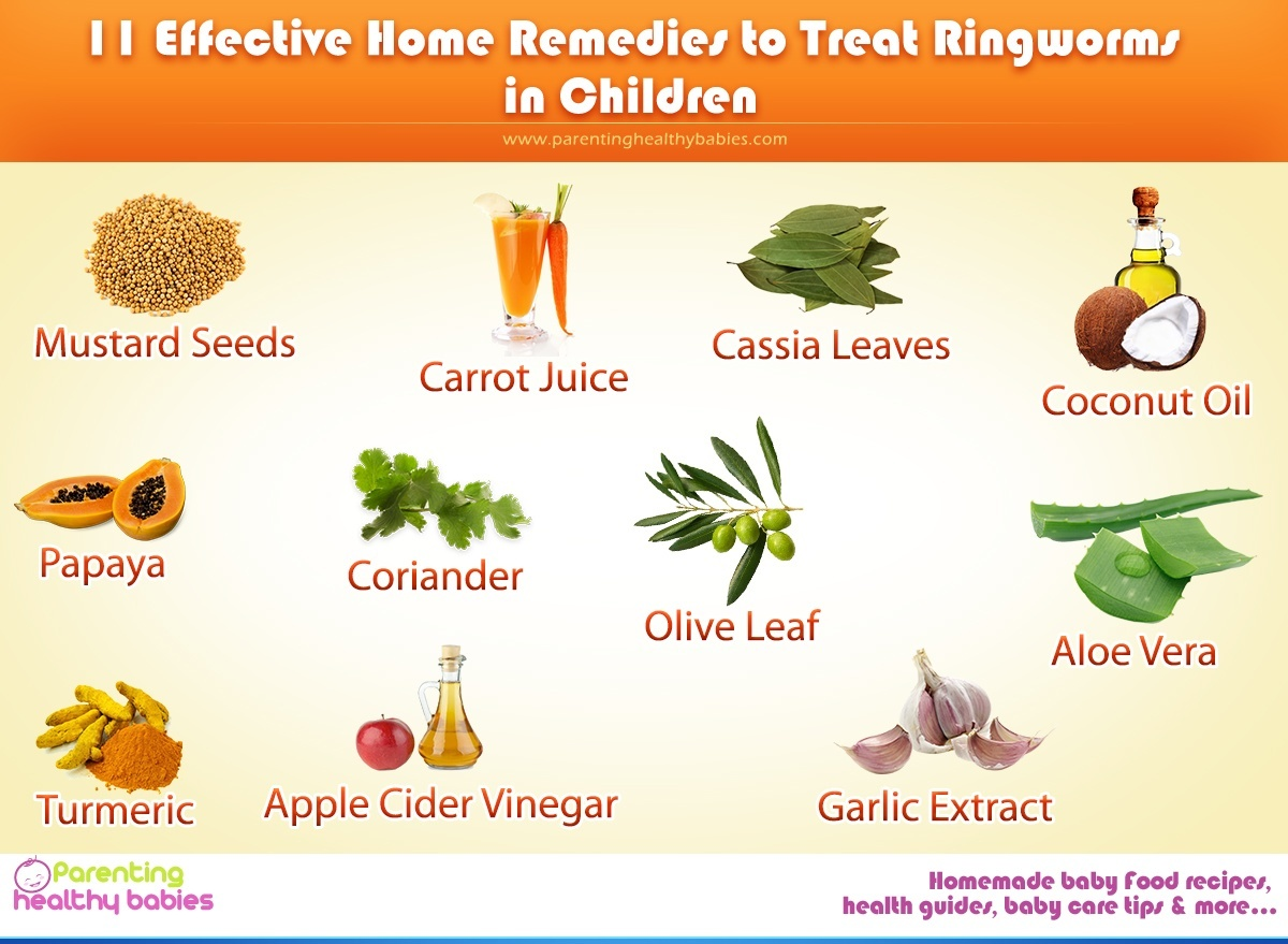 11 Effective Home Remedies to Treat Ringworms in Kids