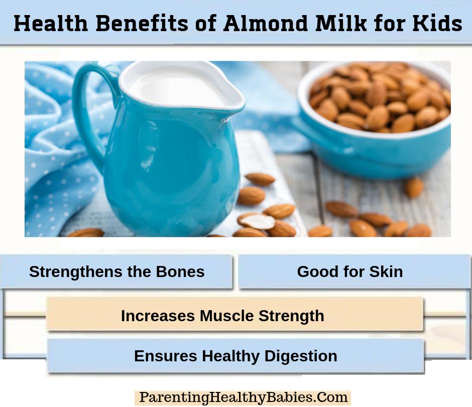 Health Benefits of Almond Milk for Kids